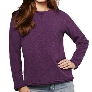 Denim & Co. Size 3X Plum Purple Textured Chenille Sweatshirt