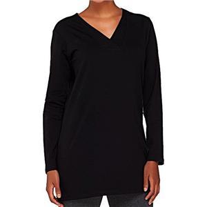 Denim & Co. Size 3X Black Essentials Perfect Jersey Crossover V-Neck Tunic