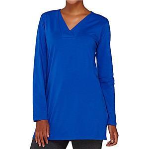 Denim & Co. Size 3X Bright Blue Essentials Perfect Jersey Crossover V-Neck Tunic