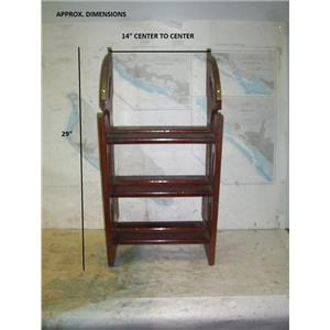 Boaters' Resale Shop of TX 2005 1142.02 WOODEN FOLDING COMPANIONWAY STEPS (6)