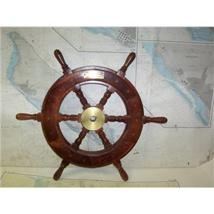 "Boaters' Resale Shop of TX 2005 0525.01 WOODEN 24"" SHIPS WHEEL FOR 7/8"" SHAFT"