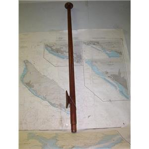 "Boaters' Resale Shop of TX 2005 1142.04 WOODEN 45"" FLAG POLE W/ INTERNAL SHEAVE"