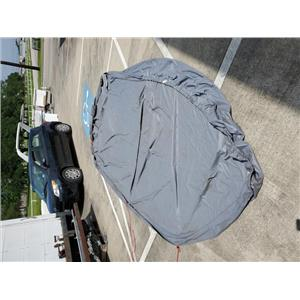 Boaters' Resale Shop of TX 1902 1171.01 BOAT COVER 9 FEET x 17 FEET GREY VINYL