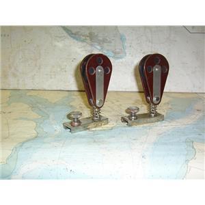 """Boaters' Resale Shop of TX 1805 1721.21 PAIR OF TUFNOL 2.5"""" BLOCKS ON 1"""" CARS"""