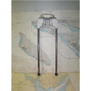 "Boaters' Resale Shop of TX 2005 1777.07 VINTAGE 2 LEVER 9.5"" PEDESTAL GUARD ONLY"