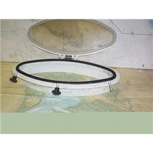 "Boaters' Resale Shop of TX 1406 1727.07 BOMAR ELIPTICAL PORTLIGHT 8x18-3/4"" CO"