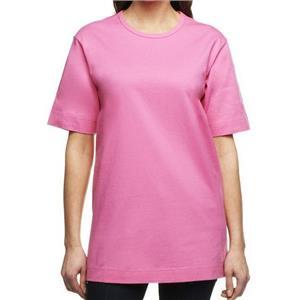 Denim & Co. Essentials Size 1X Rose Pink Cotton Jersey Oversized Scoop Neck Tee