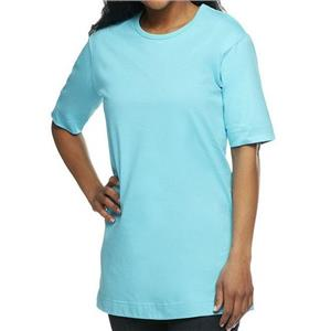 Denim & Co. Essentials Size 2X Turquoise Cotton Jersey Oversized Scoop Neck Tee