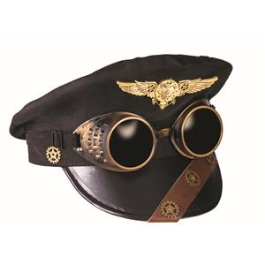 Steampunk Police Pilot Captains Hat Costume Hat