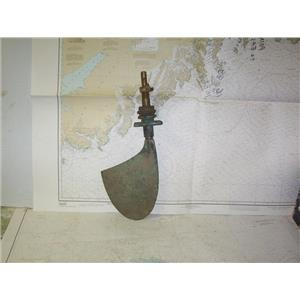 "Boaters' Resale Shop of TX 2006 0555.22 CHRIS CRAFT STYLE 8"" x 9"" BRONZE RUDDER"