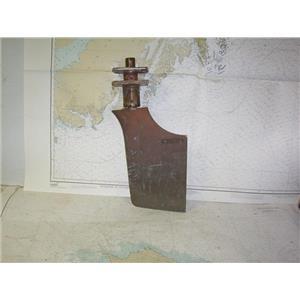"Boaters' Resale Shop of TX 2006 0555.07 SUPRA 7-1/2"" x 10"" BRONZE RUDDER"