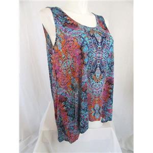Cynthia Rowley Woman Size 1X Multi Color Sleeveless Top