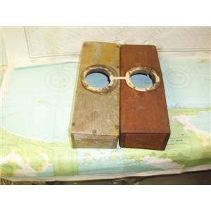 Boaters' Resale Shop of TX 1710 2777.04 TEAK DORADE BOXES SET 4.5 x 5.5 x 15.5