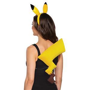 Pikachu Pokemon Yellow Headband and Tail Kit Adult