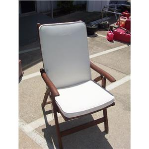 Boaters' Resale Shop of TX 2008 0424.02 ROYAL TEAK FOLDING DECK CHAIR W/ CUSHION
