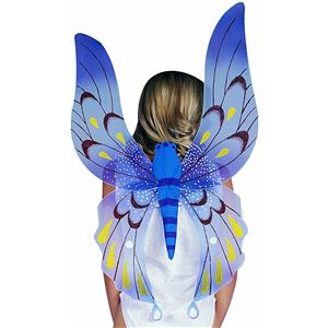 Blue Fairy Wings For Child or adult 34 X 23 inches