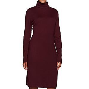 Liz Claiborne New York Size 1X Petite Wine Regular Essentials Long Sleeve Dress