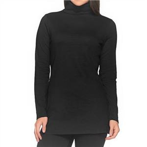 Liz Claiborne New York Essentials Size 2X Black Turtleneck Tunic