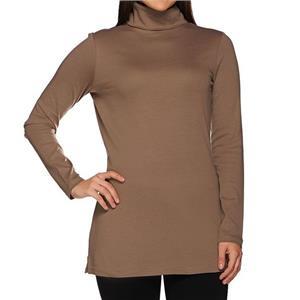 Liz Claiborne New York Essentials Size 2X Walnut Turtleneck Tunic