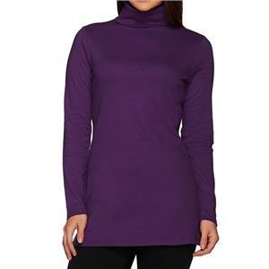 Liz Claiborne New York Essentials Size 1X Blackberry Turtleneck Tunic