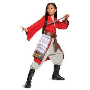 Mulan Hero Red Girls Princess Dress Disney Child Costume Medium 7-8