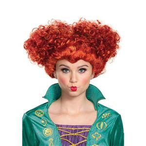 Disney Hocus Pocus Wini Deluxe Wig Costume Accessory Red Adult Size