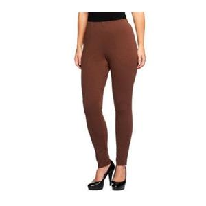 Liz Claiborne New York Size 3X (Petite) Chocolate Ponte Knit Pintuck Leggings