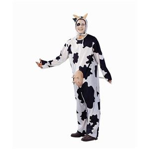 Unisex Adult Black and White Cow Costume OS