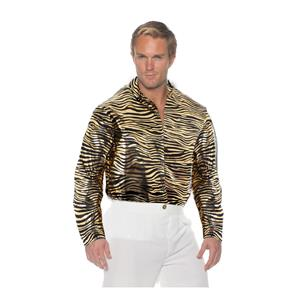 Gold Button Up Joe Exotic Tiger King Adult Costume Shirt Size Standard