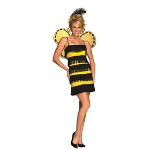 Women's Bumble Bee Mine Flapper Adult Sassy Costume XS 2-4