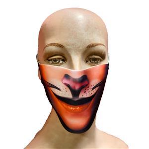Reusable Halloween Face Cover Cat Design Cute Face Mask