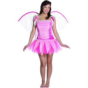 Pink Fantasy Fairy Teen Costume with Wings 12-16