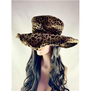Cheetah Leopard Print Pimpette Lady Pimp Costume Hat