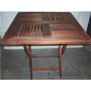 "Boaters' Resale Shop of TX 2008 0424.11 ROYAL TEAK FOLDING TABLE 29"" x 29"" x 29"""