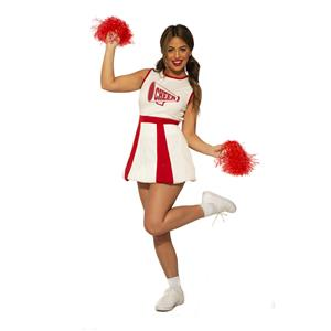 Red and White Cheerleader Adult Woman's Costume Standard