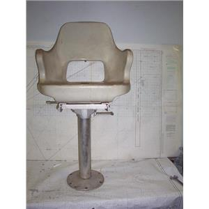 """Boaters' Resale Shop of TX 2008 4441.42 HELM CHAIR WITH PEDESTAL & CHAIR (39"""")"""