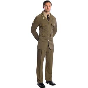 1940's WWII Military Officer Costume Adult Standard