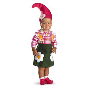 Flower Garden Gnome Toddler Child Costume Size 2T