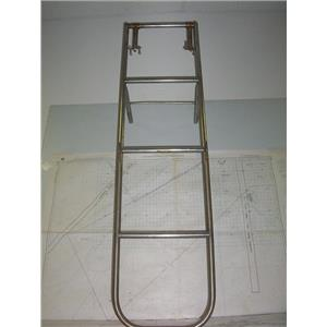 "Boaters' Resale Shop of TX 2010 0744.34 STAINLESS 58"" FOLDING 4 STEP LADDER"