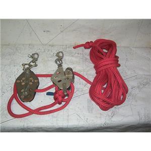 """Boaters' Resale Shop of TX 2010 2124.02 SCHAEFER 4:1 MAINSHEET VANG w/ 1/2"""" LINE"""