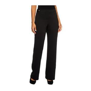 Liz Claiborne New York Size 1X Petite Black Ponte Knit Trousers