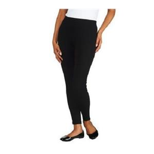 Liz Claiborne New York Size 1X Black Pull-on Ponte Knit Crop Leggings