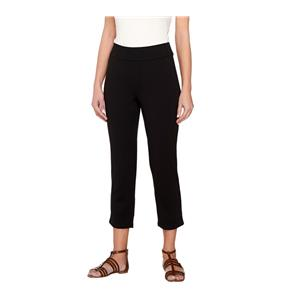 Liz Claiborne New York Size 20W Black Ponte Knit Cropped Leggings