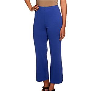 Liz Claiborne New York Size 3X Pigment Blue Ponte Knit Crop Pants