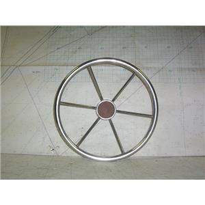 """Boaters' Resale Shop of TX 2011 1441.05 STAINLESS STEEL 15-1/2"""" STEERING WHEEL"""
