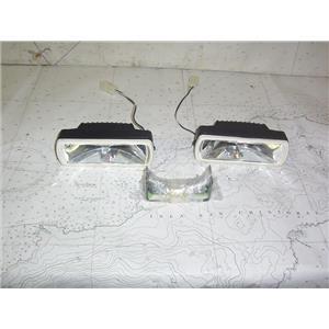 """Boaters' Resale Shop of TX 2011 0524.14 PIAA 2"""" x 6"""" HALOGEN LIGHTS & BRACKETS"""
