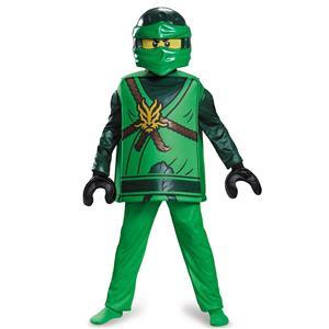 Disguise Deluxe Lloyd Lego Ninjago Costume, Green, Small (4-6)