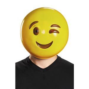 Wink Smiley Face Emoticon Emoji Adult Mask