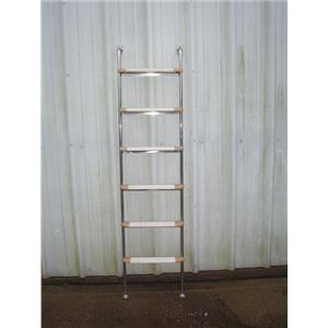 "Boaters' Resale Shop of TX 2012 1145.04 SIX STEP MARINE LADDER 17.5"" W x 6 FT. H"