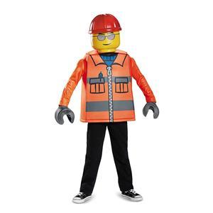 Disguise Classic Lego Construction Costume, Medium 7-8